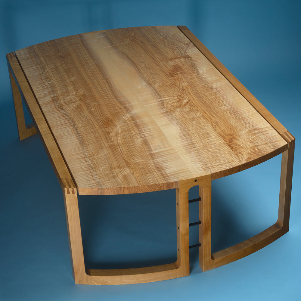 Ash and cherry low table