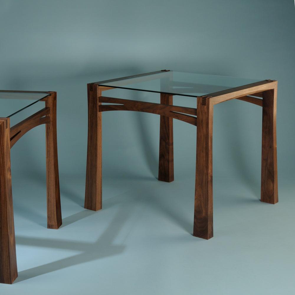 Black walnut side tables