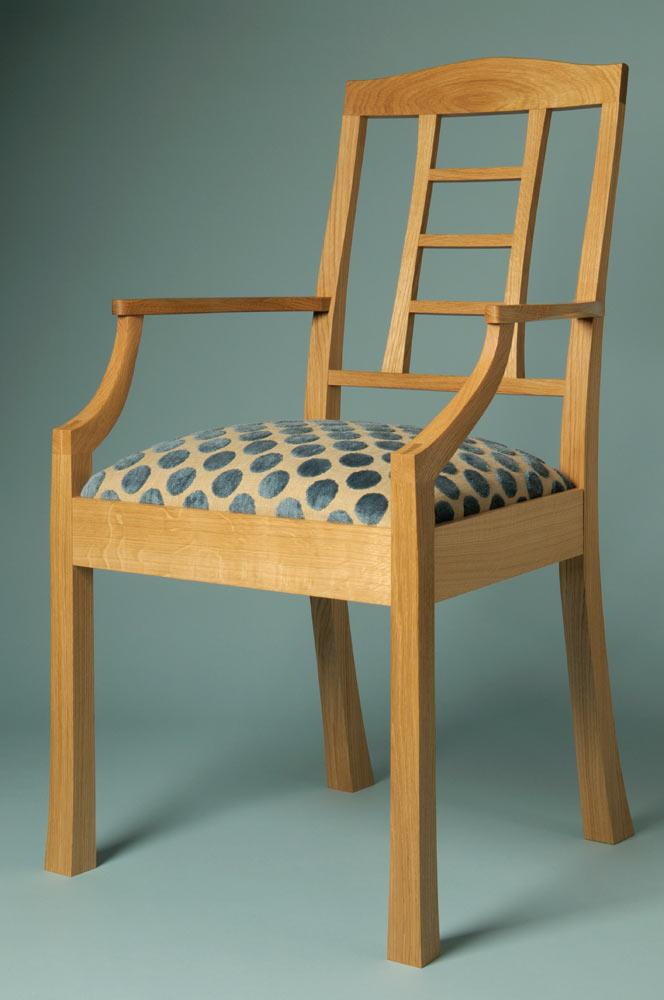 Ladder back chair oak