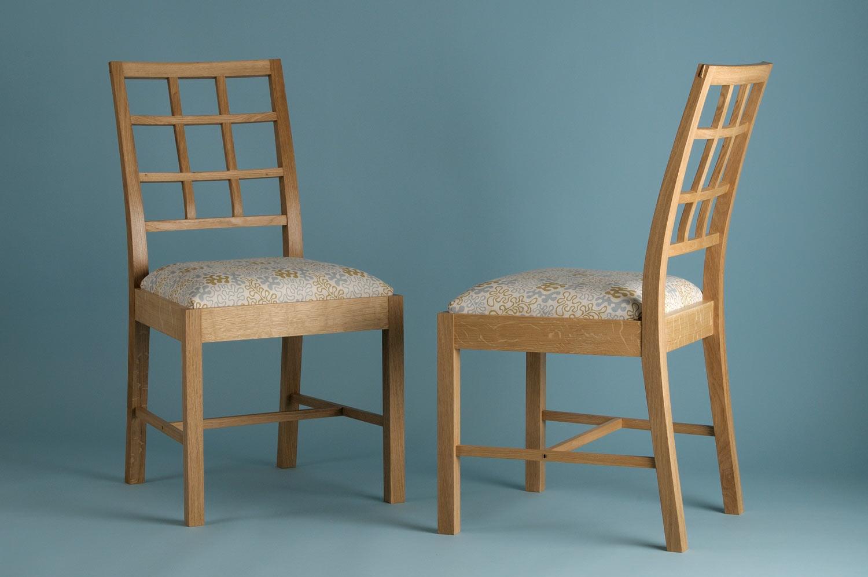 Lattice back chair