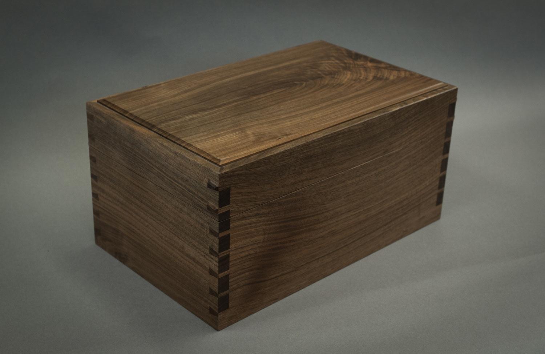 Walnut jewellery box