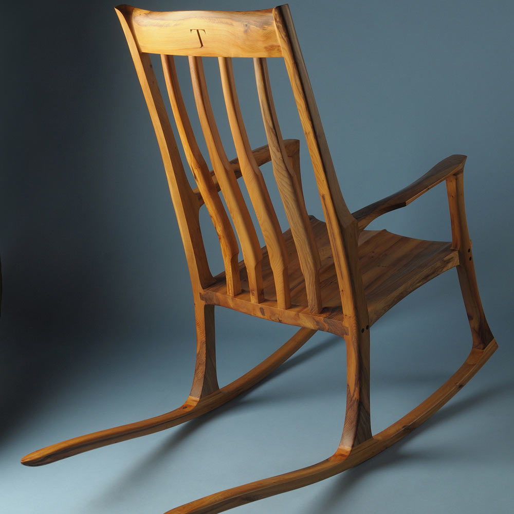 Yew rocking chair