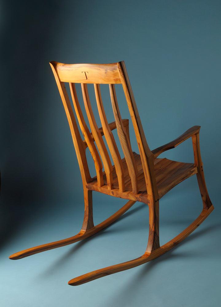 Yew rocking chair